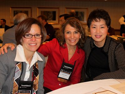 2010 Jane Boggess Award winners (left to right) Marilyn Stebbins, PharmD, and Helene Levens Lipton, PhD, with Jean Lim, president of The Amgen Foundation