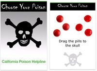 screenshots of the Choose Your Poison iPhone app