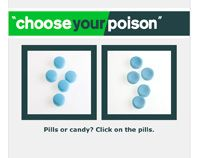 screenshot of the Choose Your Poison game