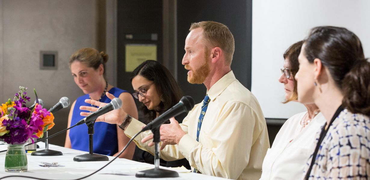 Cutler with panel participants