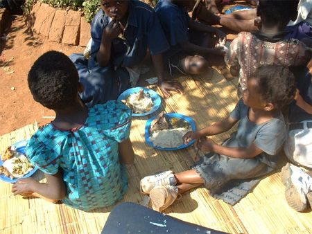 orphans with meals