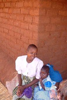 Malawi woman and child