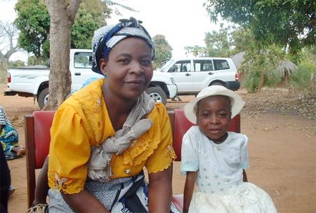 Malawi woman and child