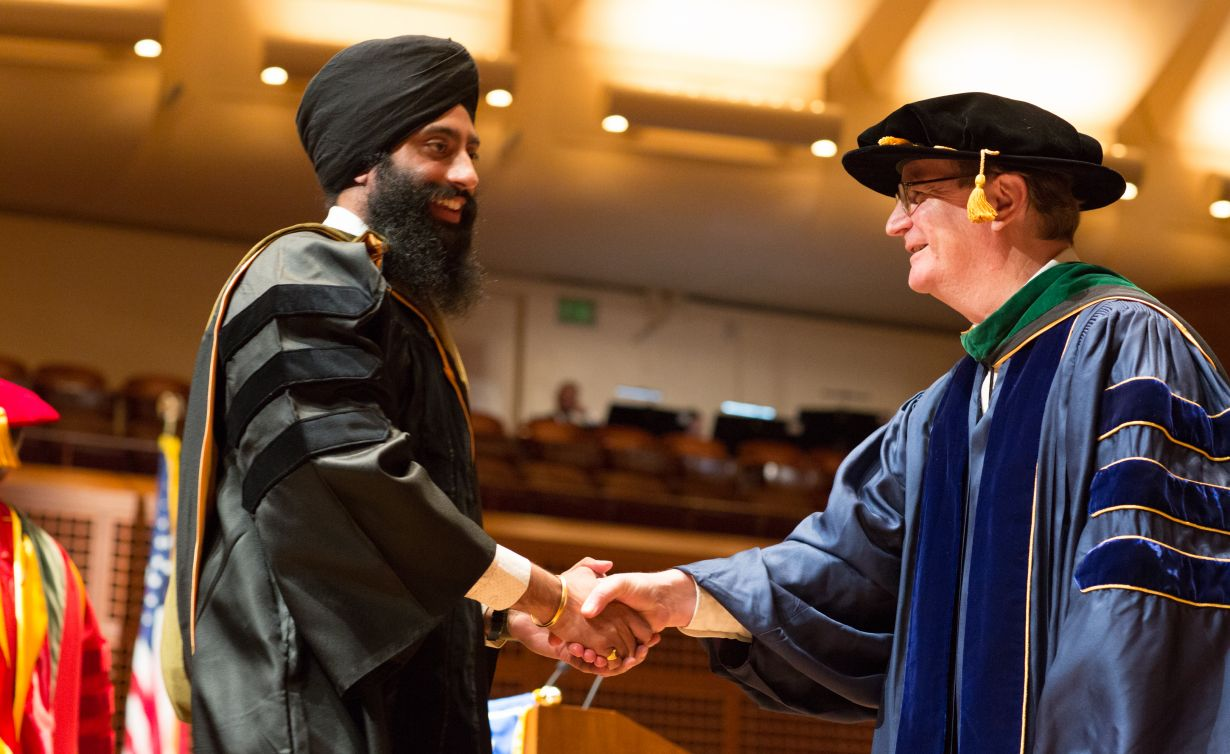 Jaspreet Singh Khaira and Chancellor Hawgood
