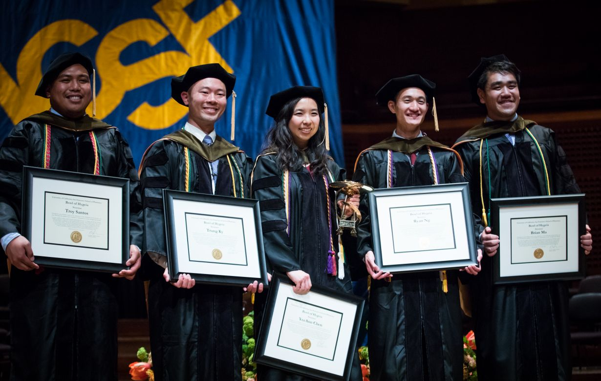 Santos, Ky, Chen, Ng, Ma holding framed awards