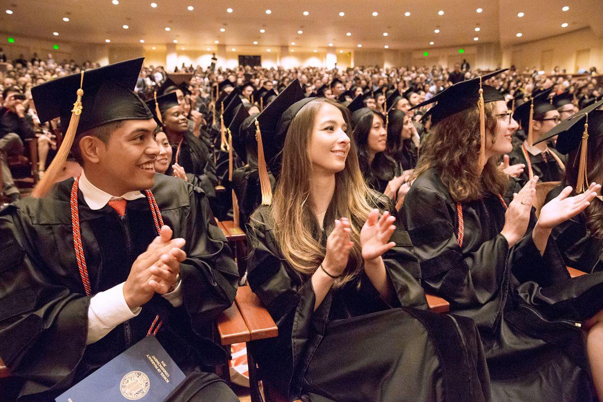 PharmD graduates at commencement
