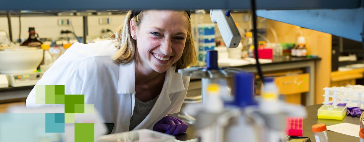 UCSF PharmD student in research lab