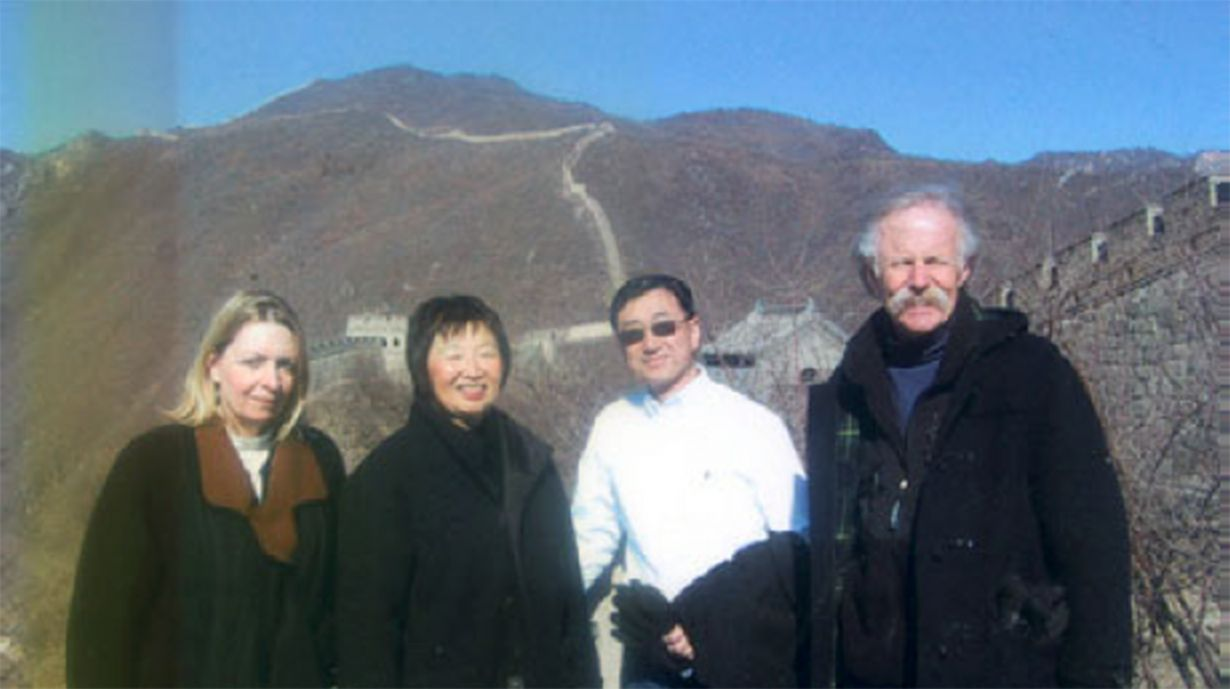 group at the Great Wall of China
