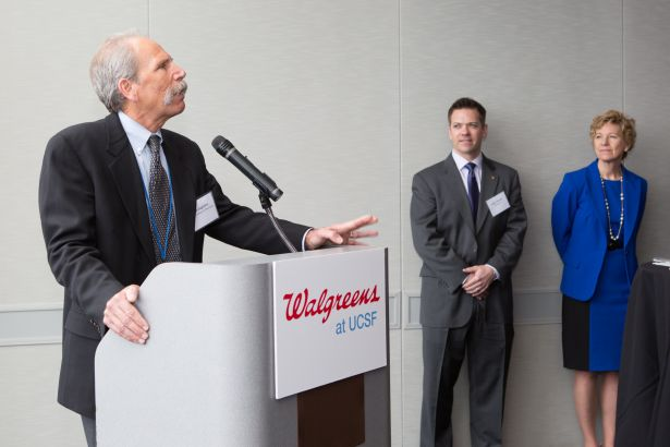 Guglielmo at Walgreens at UCSF podium