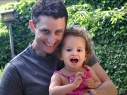 Postdoctoral fellow Ramon Birnbaum, PhD, and daughter Ruth