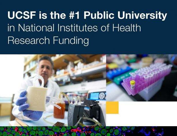 graphic: UCSF is #1 public university in NIH research funding