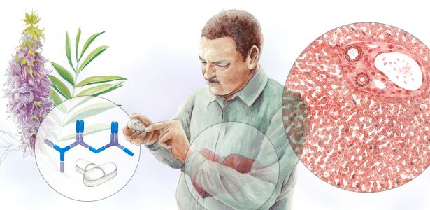 illustration of patient with diabetes