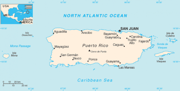 map of Puerto Rico