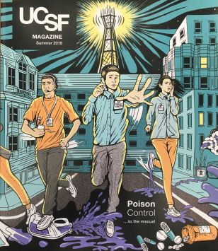 UCSF Magazine cover art