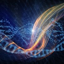 stylized DNA strand