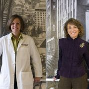 Marilyn Stebbins, PharmD (image left), and Helene Levens Lipton, PhD (image right)