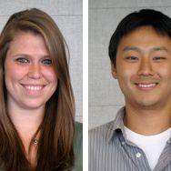 Student pharmacists Katie Alvarez and Matthew Chang