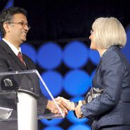 Shuvo Roy, PhD accepts Rising Star award