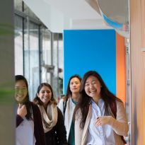 PharmD students arrive at UCSF for the first day of classes.