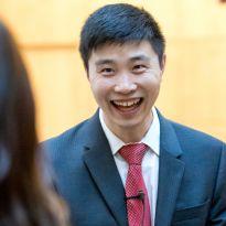 Huang at reception