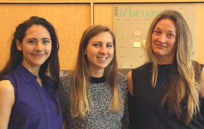 Left to right: Emma Hughes, Kendra Radtke, PharmD '18, Rada Savic, PhD
